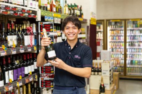働きながらお酒に詳しくなれます。まずは元気な挨拶ができればOK!一緒に楽しく働きましょう。